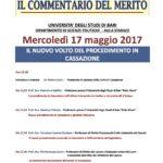 Il nuovo volto del procedimento in Cassazione, Bari 17 Maggio 2017 Dipartimento Scienze Politiche