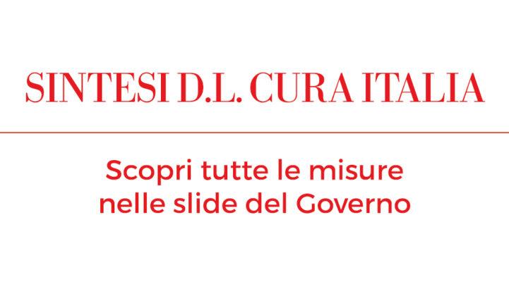 SINTESI D.L. CURA ITALIA – EMERGENZA CORONAVIRUS COVID-19